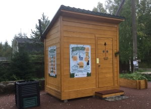 "Installation of the first pilot ecological dry toilet on the Gulf of Finland as part of the project ""Local, small-scale solutions to reduce nutrient load into the Baltic Sea"""