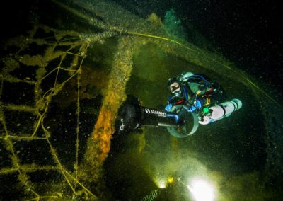 Reduction of the negative impact of oil spills from the Franken shipwreck