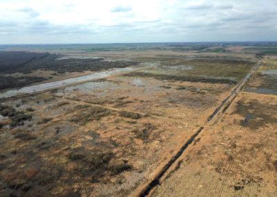 abandoned polder meadows in Zuvintas Biosphere Reserve